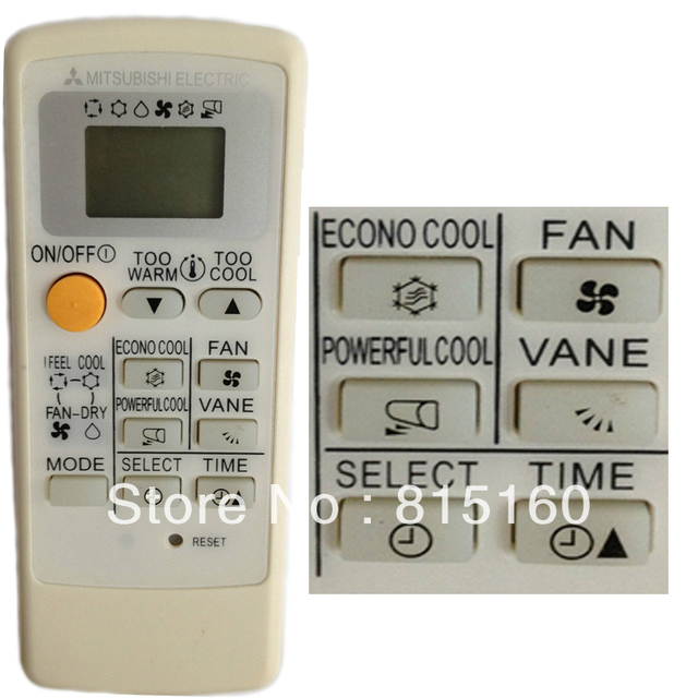 4piecesyingray Replacement Remote For Mitsubishi Air Conditioner