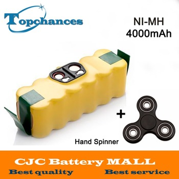 New 4000mah NI-MH Vacuum Battery for iRobot Roomba 500 560 530 510 562 550 570 581 610 650 790 780 532 760 770 +Hand Spinner - discount item  6% OFF Accessories & Parts
