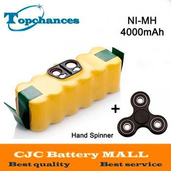Roomba 650 Battery | New 4000mah NI-MH Vacuum Battery For IRobot Roomba 500 560 530 510 562 550 570 581 610 650 790 780 532 760 770 +Hand Spinner