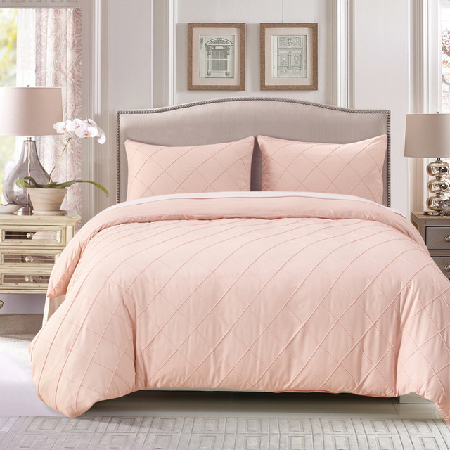 Wliarleo Plaid Bedding Set Modern Style Pillowcase Duvet Cover Sets Pink Comforter Soft For Queen King Bed Sheet