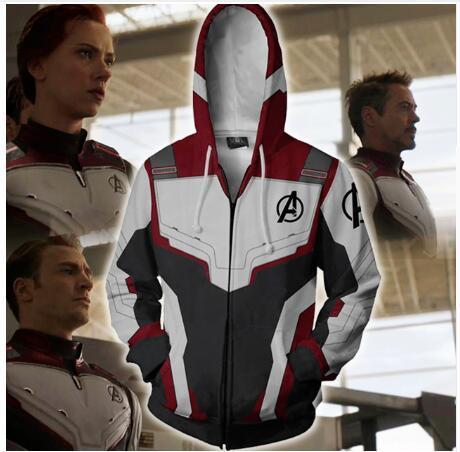Avengers Endgame 4 Quantum Rijk 3D Print Hoodies Mannen Fitness Sweatshirt Rits Jas Cosplay Kostuum Streetwear