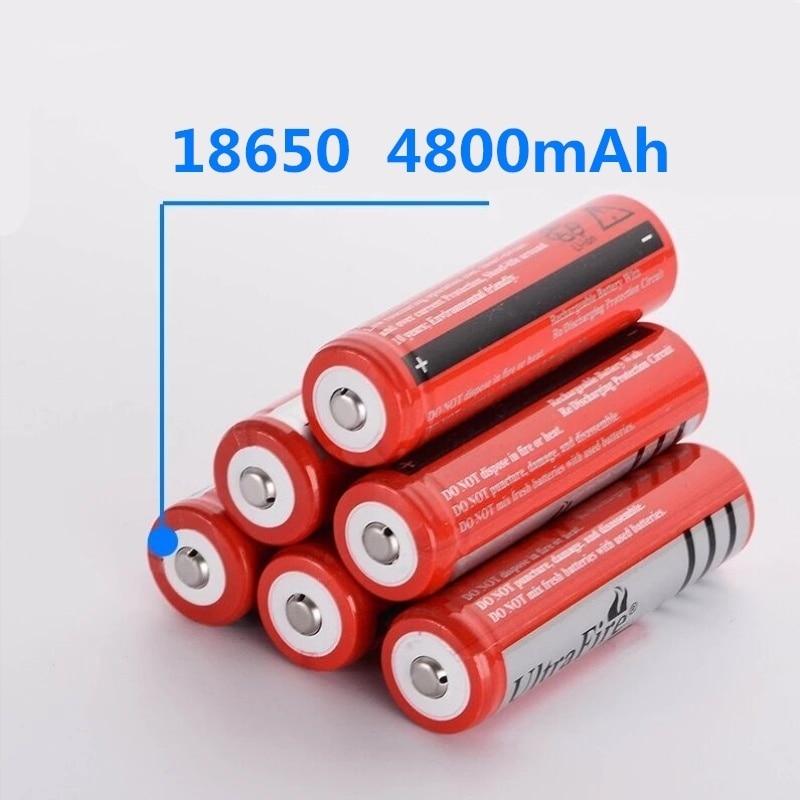 Перезаряжаемая литиевая батарея 18650, 4800 мАч, 3,7 в, литий-ионная батарея для фонарика, фонарика 18650, батареи GTL EvreFire