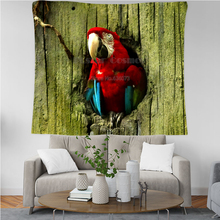 PLstar Cosmos Tapestry Parrot Flower 3D Printing Tapestrying  Rectangular Home Decor Wall Hanging New style 5