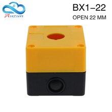 Single hole button box  control box 22mm BX1-22 emergency stop button box button box.
