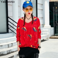 Plus size Loose Tees Cotton Solid color Irregular Casual Shirts V Neck Loose Pullovers Tees Autumn T shirts for woman A81 z20