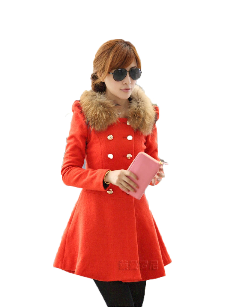 2016 Turtleneck New Wool Women Coat Long Woolen Winter Regular AWC0052