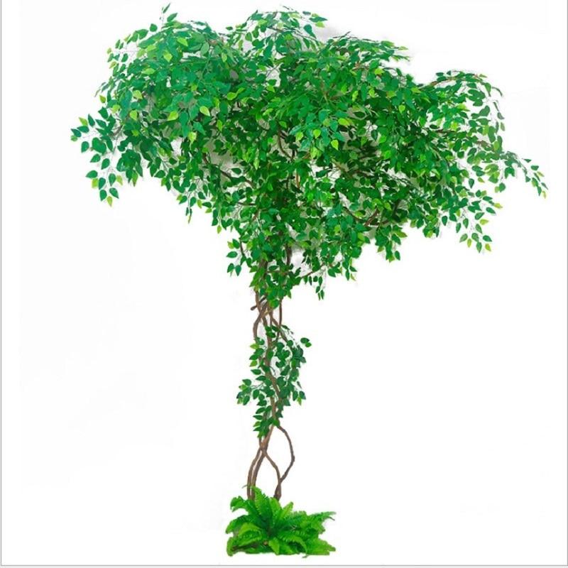 Ensemble de plantes artificielles décoration de mariage aménagement paysager vigne sèche faux arbres canne verte décoration d'intérieur plante verte - 2