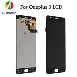 Wymiana wyświetlacza lcd dla Oneplus 3 trzy A3000 zespół ekranu dotykowego Digitizer jeden plus 3 panel dotykowy + narzędzia w Ekrany LCD do tel. komórkowych od Telefony komórkowe i telekomunikacja na