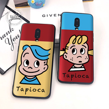 Fashion Cute girls For Case Oneplus 6T 7 Black Cover Soft Silicone for Phone Cases Coque Capa