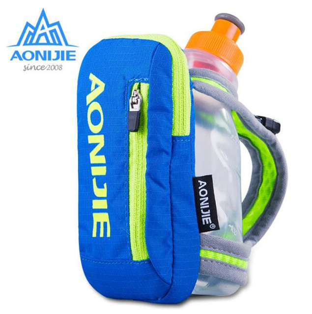 AONIJIE Outdoor Sports Bag Waterpoof Nylon Marathon Hiking Cycling Running Hand Hold Kettle Bag Optional Water Bottles