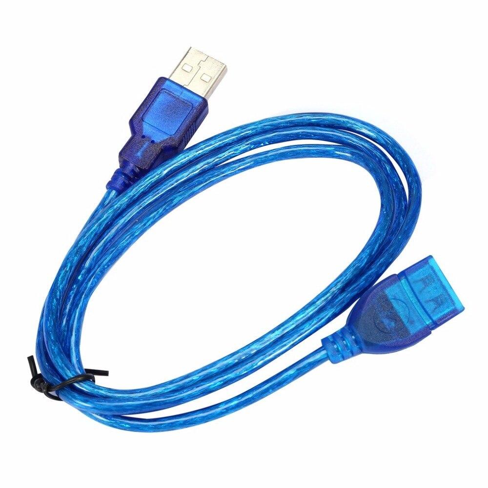 """1/1. 5/2/3 м анти-помех USB 2,0 Удлинительный Кабель USB 2,0 """"папа"""" в USB """"Мама"""", 2,0 Женский Удлинительный шнур для синхронизации данных кабель синий"""