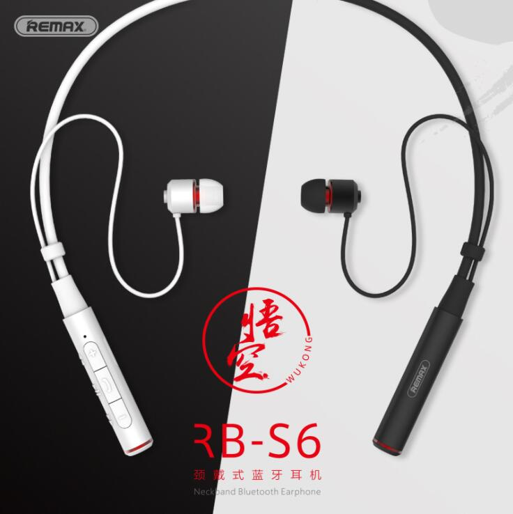 Remax RB-S6 sport tour de cou Bluetooth casque sans fil stéréo musique écouteur Bluetooth V4.1 HD Mic Multi connexions pour IPhone