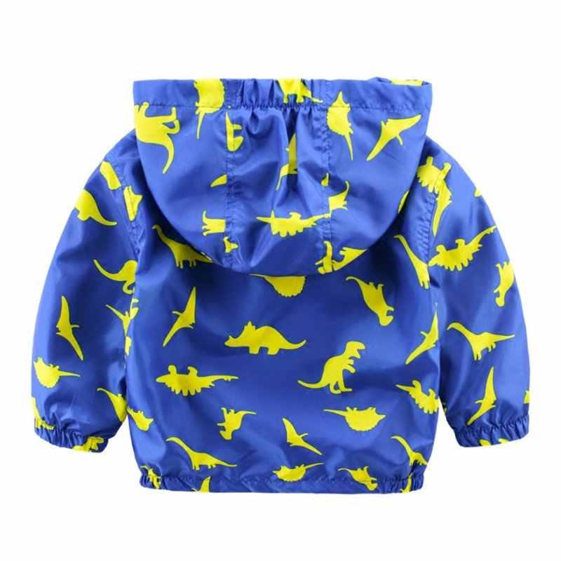 キッズ恐竜プリントジャケットロングスリーブソフトシェルジャケット暖かいコート用冬