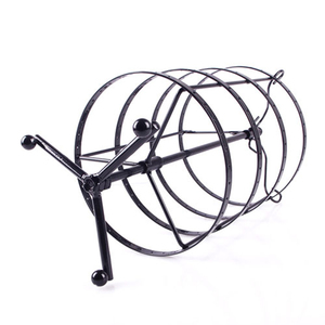 Image 4 - 144 Holes Round Rotating Jewellery Display Stand Black Metal Earrings Holder Organizer Stand Rack #46674