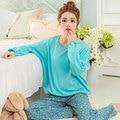2016 Pijamas Para As Mulheres Menina Pijama Mujer Femme Pigiami Pijamas Lar Roupa Pijama Feminino Pijama Entero Pijama Manga Larga