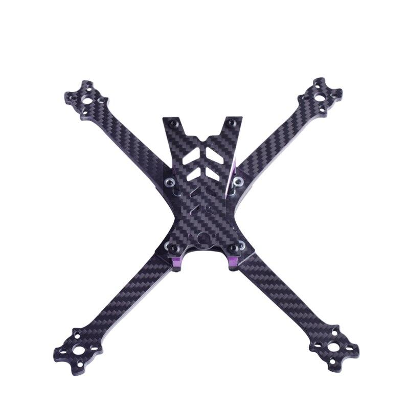 FLYCOLOR BEAST X220 Carbon Fiber+Alloy FPV Frame Kit FPV Rack Body 4mm Thick Arm For FPV RC Quadcotper Drone 5 Prop 22 23 motor s500 rack fpv frame kit ultra hard frame arm upgrade f450 sk500 quadcopter rack w carbon fiber landing gear for fpv rc drone diy