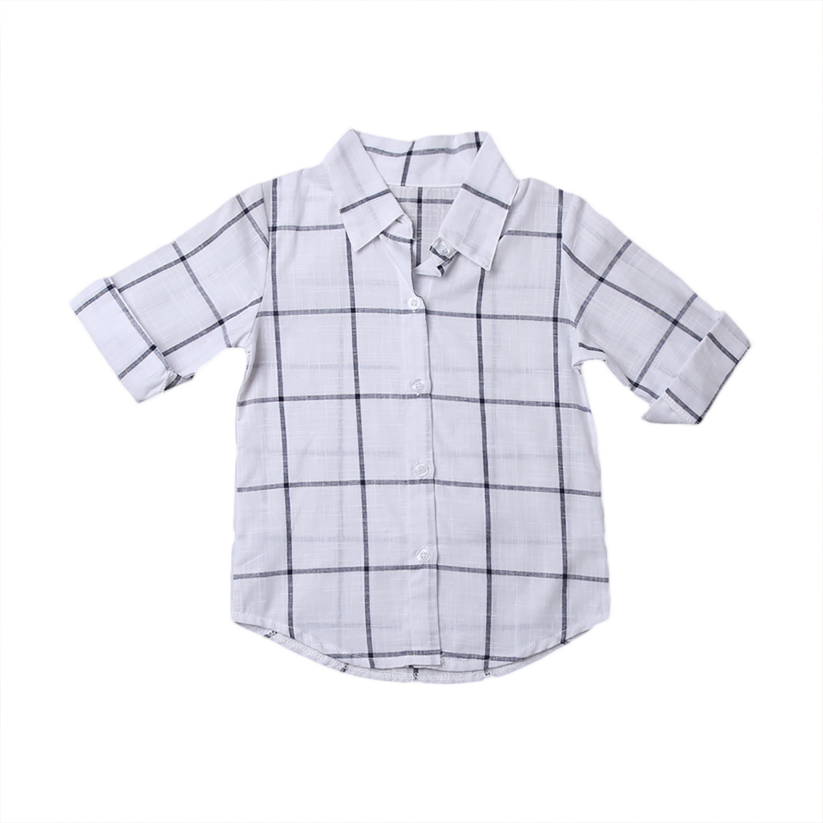 Summer 2017 Toddler Kids Baby Girls Outfits Clothes Plaid