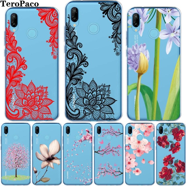 Sexy Floral Pattern Flower Soft Silicone Case Cover For Huawei P8 P9 P10 P20 Mate10 Lite Pro Plus 2017 Y5 Y6 II Back shell