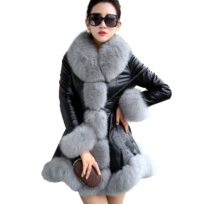 fur coat outlet Picture - More Detailed Picture about New Black ...