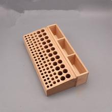98 löcher Leder Handwerk Werkzeug Halter Box Holz Rack Holz Punch Handarbeit Werkzeug Stehen Halter Organizer für Bohrer Lagerung