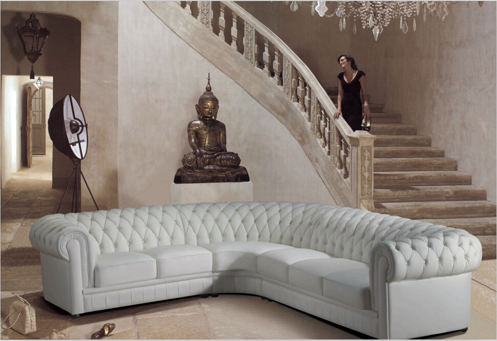 Lovely Cheap Modern Sectional Sofas White Living Room Couch # 2220B ...