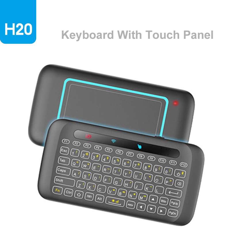 H20 2.4G Mini Wireless Keyboard With Touchpad Mouse Comb Backlight Multi-touch Touchpad Air Mouse For PC,Android Tv Box