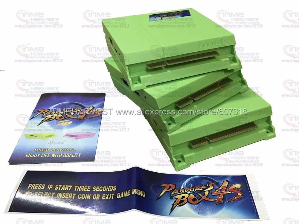 10 pcs New Arrival 815 in 1 multi game board 2017 Newest Upgraded Version Pandora Box 4+ for CGA VGA HDMI monitor Arcade Cabinet 815 in 1 original pandora box 4s plus arcade game cartridge jamma multi game board with vga and hdmi output