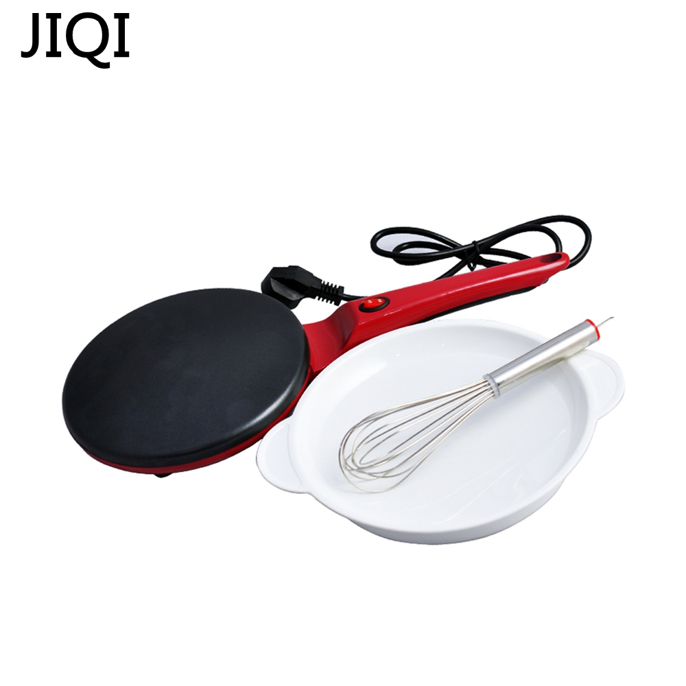 JIQI Non-stick aking Pan Electric Cake Stall Pancake Machine Portable Electric Bread Mac ...