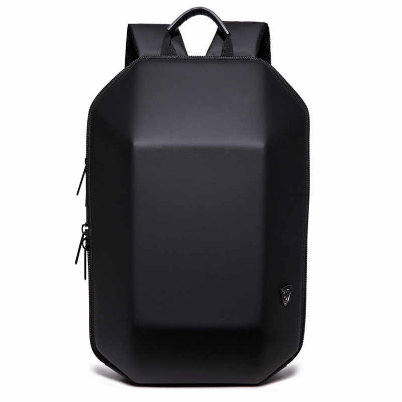 OZUKO Backpack Men Hard Shell Backpack Waterproof Anti Theft Travel Bags Black Creative Alien Casual Laptop Teenage School Boy