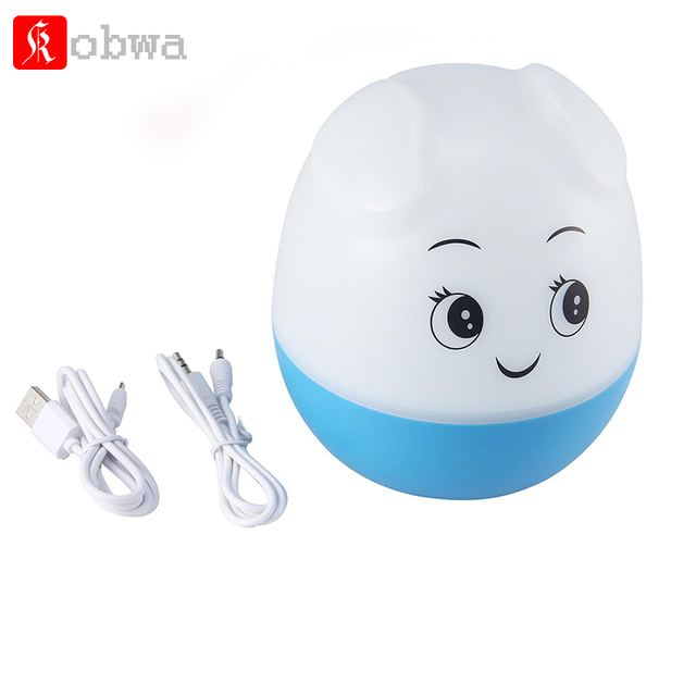 Kobwa Cartoon Pigs Wireless Stereo Bluetooth Speakers portable mp3 Player Desk Lamp LED Light support Memory Card USB accessory