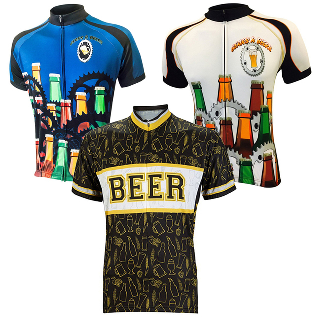 4476136ae 2018 summer men s black blue beer cycling jersey Retro classic cycling  clothing Short sleeve bike wear
