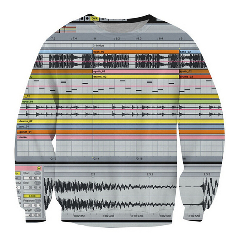 Ableton Live Crewneck Sweatshirt among music production software 3d print jumper Women Men Casual Outfits Pullover image
