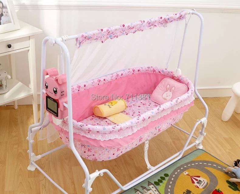 Mode baby bed schwingen großhandel kinder stubenwagen blau und rosa