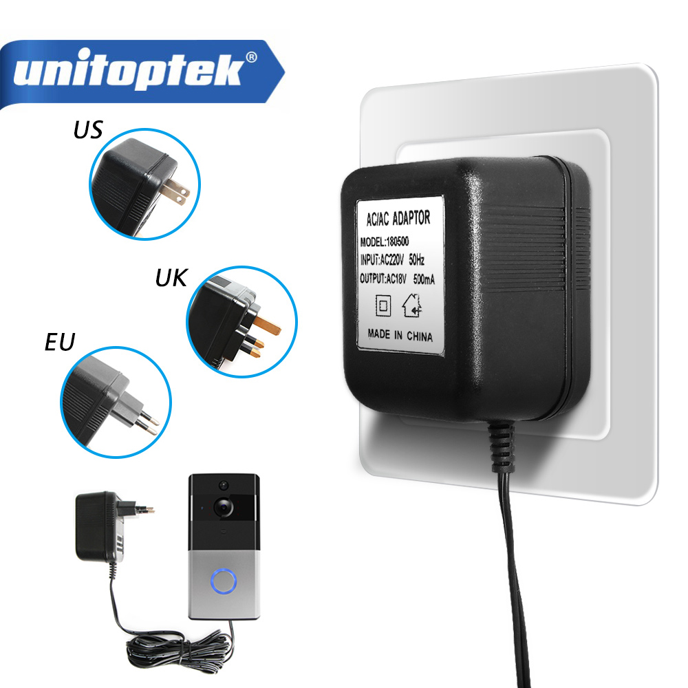 5m Cable 18V 500ma Battery Charger Easy Installation Power Supply Adapter 110V-240V Transformer For WIFI Wireless Video Doorbell5m Cable 18V 500ma Battery Charger Easy Installation Power Supply Adapter 110V-240V Transformer For WIFI Wireless Video Doorbell