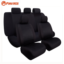 Black Elastic Full Seat Covers Airbag Compatible Front Back Seat Protector Universal Auto Chair Cushion Cover