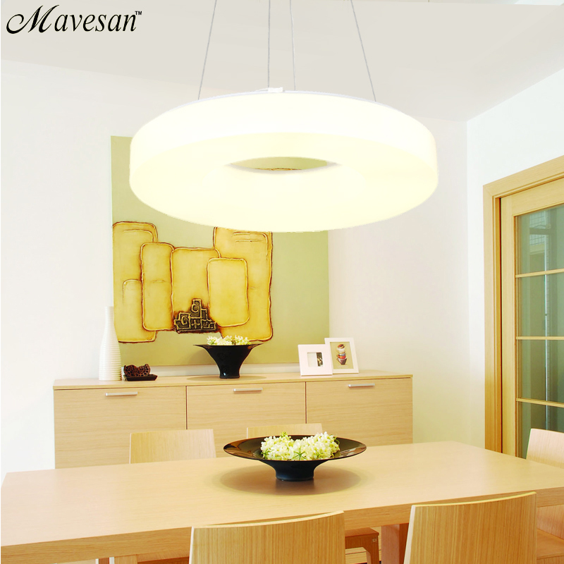 Modern Led Pendant light for dinning Room Acrylic round circle hanging lamp remote control led dining room kitchen pendant light 40cm acrylic round hanging modern led pendant light lamp for dining living room lighting lustres de sala teto