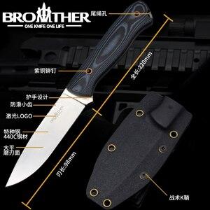 Image 5 - سكين نصل ثابت [BROTHER F001] سكين نجاة مستقيمة سكين تكتيكي للصيد والتخييم مصنوع يدويًا أداة EDC عالية الجودة