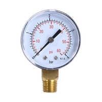 """Piscine Spa filtre eau Air huile vide utilitaire sec Mini manomètre 60PSI montage latéral 1/4 """"pouce tuyau filetage manomètre"""