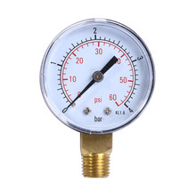 "Zwembad Spa Filter Water Lucht Olie Vacuüm Droog Utility Mini Manometer 60PSI Side Mount 1/4 ""Inch Pijp Draad manometer(China)"