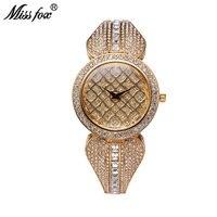 Miss Fox 37 мм Лидирующий бренд роскошные часы Для женщин золото Браслеты BU Relogio feminino dourado сетки из Китая reloj Mujer