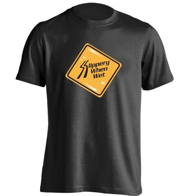 2c7a65f005 Bon jovi escorregadio quando molhado Dos Homens   Das Mulheres Camisa  Personalizada de T Camisa do