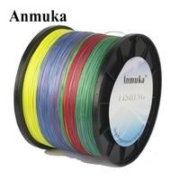 Anmuka PE Fishing Line 10M 1 Color 1000M 10LB 80LB Braided Multicolor Mulifilament Japan Silk 4