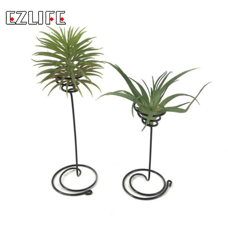 1pcs Mini Decorative Metal Air Plant Pot Stand Container Holder Balcony Decor For Airplants Tillandsia Garden Supplies CZX2383
