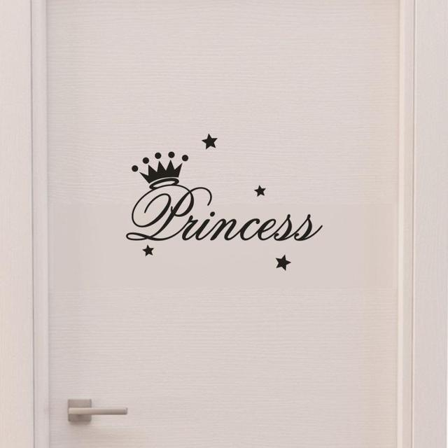 PVC Solid Kids Room Wall Sticker Removable Princess Sleeps Wall Stickers Art Vinyl Decals Baby Girls Room Decorative Decal   803