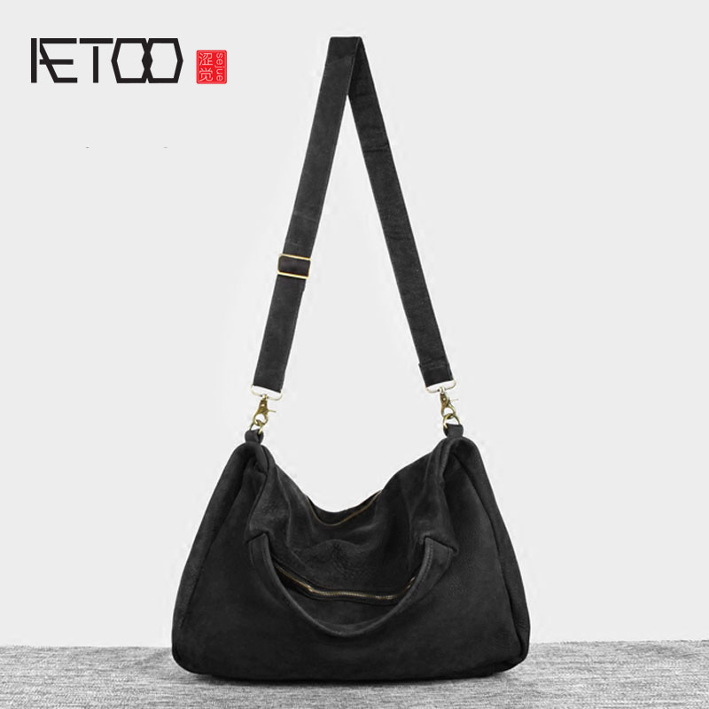 AETOO  Europe and the United States leisure retro male bag leather shoulder bag oblique cross the first layer of leather handbag europe and the united states cross bikini one piece swimsuit