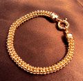 MENS Woman THICK  GOLD FINISH IN STYLE MIAMI CUBAN CURB LINK CHAIN BRACELET