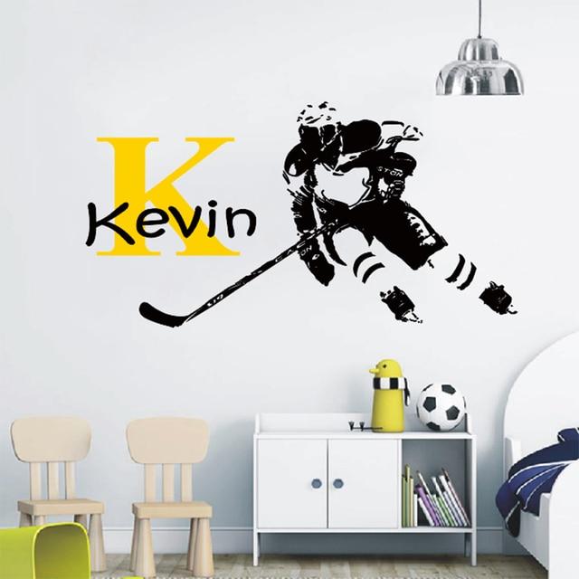 asapfor hockey wall stickers custom stickers personalized hockey