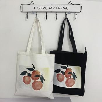 Canvas Shoulder Tote Bag For Women 2019 Female Handbags Eco Reusable Cloth Shopping Bag Ladies Beach Shopper Bag Bolsas De Tela 1