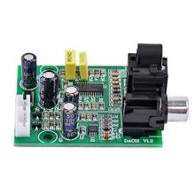 Dac Digital Decoder Cs8416+Cs4344 Optical Fiber Coaxial Digital Signal Input Stereo Audio Output Decod For Amplifier Diy