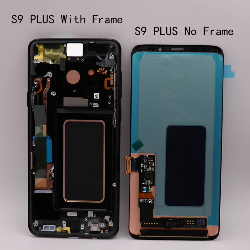HTB1fQluX2jsK1Rjy1Xaq6zispXa8 ORIGINAL AMOLED Replacement for SAMSUNG Galaxy S9 S9+LCD Touch Screen Digitizer with Frame G960 G965 display
